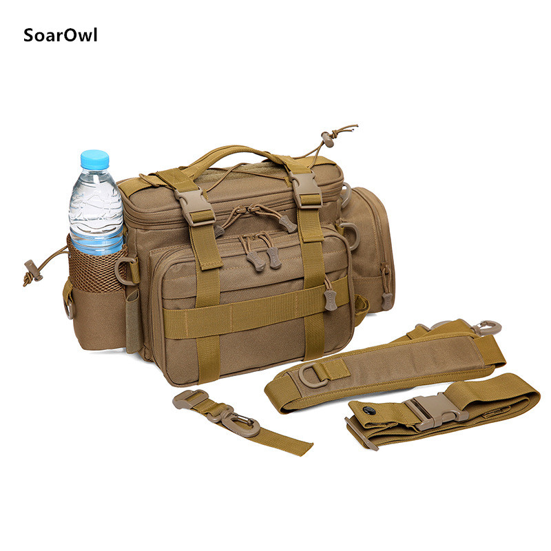 Image 5 - Multifunctional Shoulder Bag Fishing Gear Fishing Bag Waterproof Bag Outdoor Tactical Mountaineering Backpack Portable nylon-in Fishing Bags from Sports & Entertainment