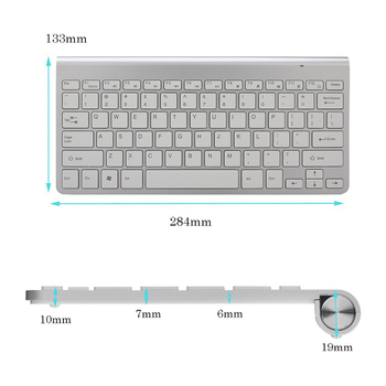Portable Mute Keys Keyboard