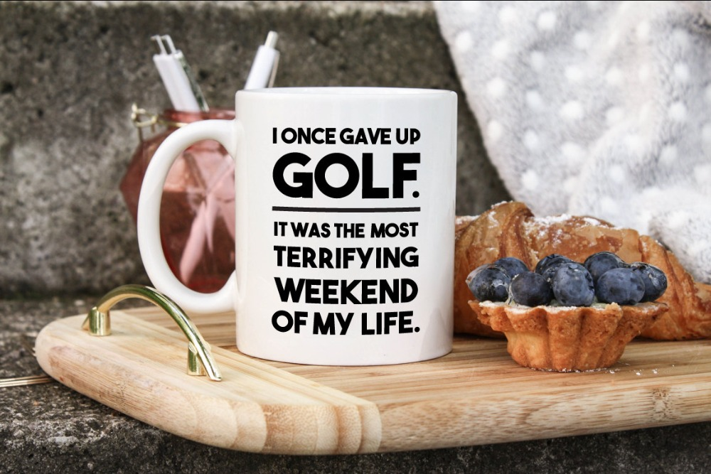 Golf mugs coffee mugs ceramic Tea beer home decal friend gift wine milk beer novelty tea magic birthday gifts