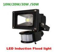Оптовая продажа PIR MotionSensor Светодиодный прожектор индукции Чувство Открытый Прожектор 10 Вт 20 Вт 30 Вт Flod Свет IP65 холодный белый теплый белый