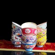 Jingdezhen porcelain enamel color bone china  trending products 2019 4.5 inches ceramic bowl tableware rice