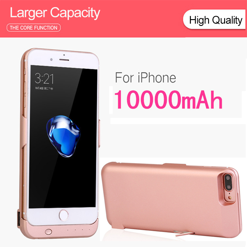 10000mAh Portable External Battery For IPhone 6 6S 7 8 Phone Battery Case For IPhone 6 Plus 6s Plus 7 Plus 8 Plus  Charging Case
