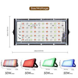Image 2 - LED הארה חיצוני זרקור 10W 50W קיר מכונת כביסה מנורת רפלקטור IP65 עמיד למים תאורת גן RGB מבול אור AC 220V 240V