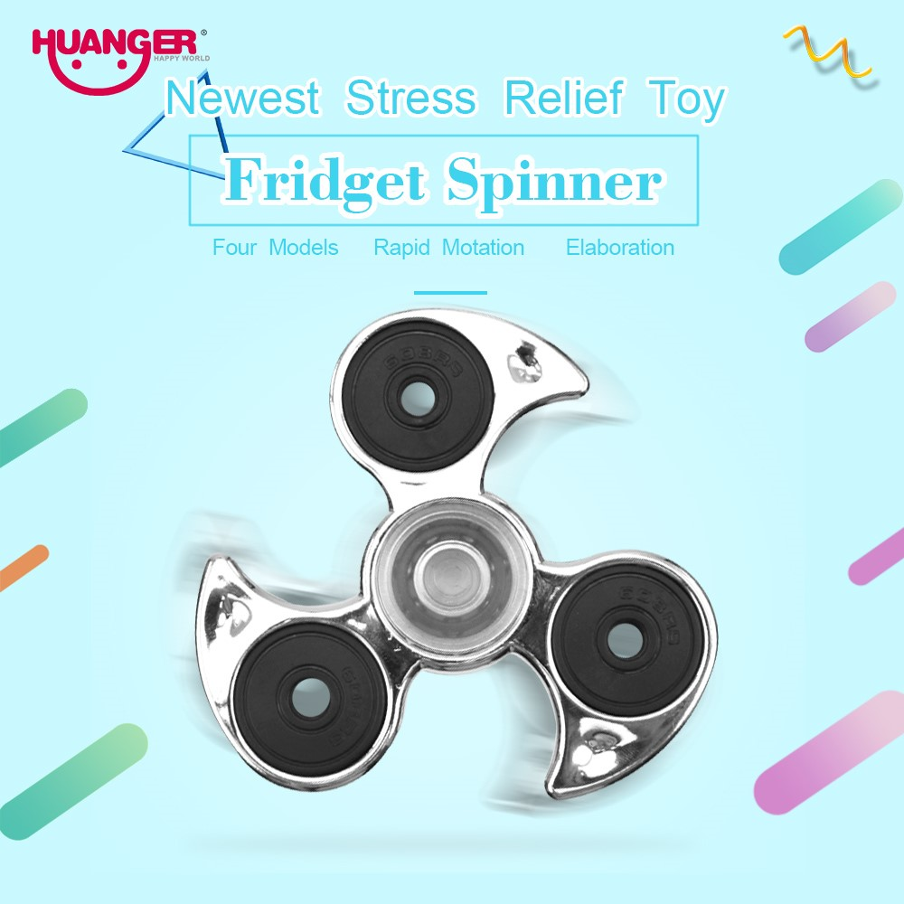 Huanger Finger Hand Spinner Fidget Spinner Stress Wheel EDC Anxiety Stress Relief Toys For Autism and antistress 4 Colour Gift