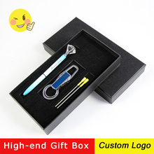 1Set Creative Big Diamond Metal Ballpoint Pen Office Advertising Ballpoint Pen Laser Free Customized LOGO Gift Pen With Gift Box 15 25pcs metal ballpoint pen black ink diamond shaped artificial crystal pen with plastic box
