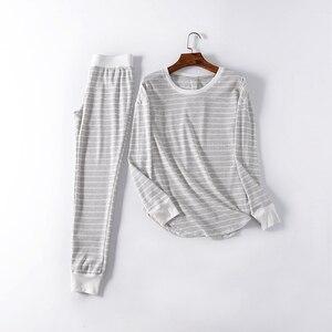 Image 3 - Fdfklak yeni bayanlar loungewear ev giysileri pijama kadın pijama pijama takımı bahar sonbahar uzun kollu pijama Q1542