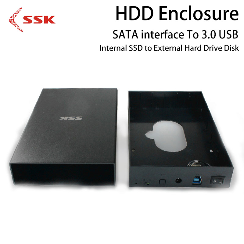 SSK HDD Enclosure 3.5 Inch SATA To 3.0 USB Internal SSD to External Hard Drive Disk Case HE-S3300 Hard Disk Box for OTB Computer high quality 3 5 hdd enclosure sata to usb 3 0 external hard disk case black aluminum hdd box for computer