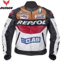 DUHAN Moto GP motorcycle REPSOL Racing Leather Jacket VS02 orange blue M L XL XXL 3XL good pu leahter made high quality fast