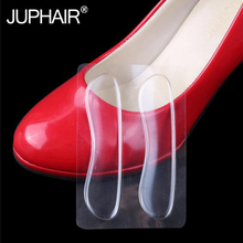 JUP 3 Pairs Women High Quality Pro New Fashion Transparent Classical Silicone Cushion Gel Heel Foot Care Shoe Insert Pad Insole