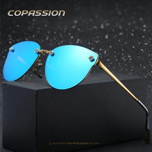 2017 sem aro Polarizada óculos de sol das mulheres marca designer driving óculos olho de Gato óculos de sol uv400 Óculos de sol oculos de sol feminino