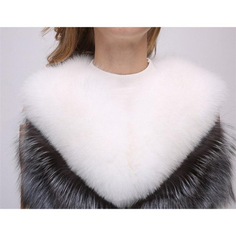 Faux Fur Coat Women Silver Fox White Fur Jacket 2019 New Autumn Winter S 4XL Plus Size Sleeveless Pocket Slim Coat Feminina JD54 in Faux Fur from Women 39 s Clothing