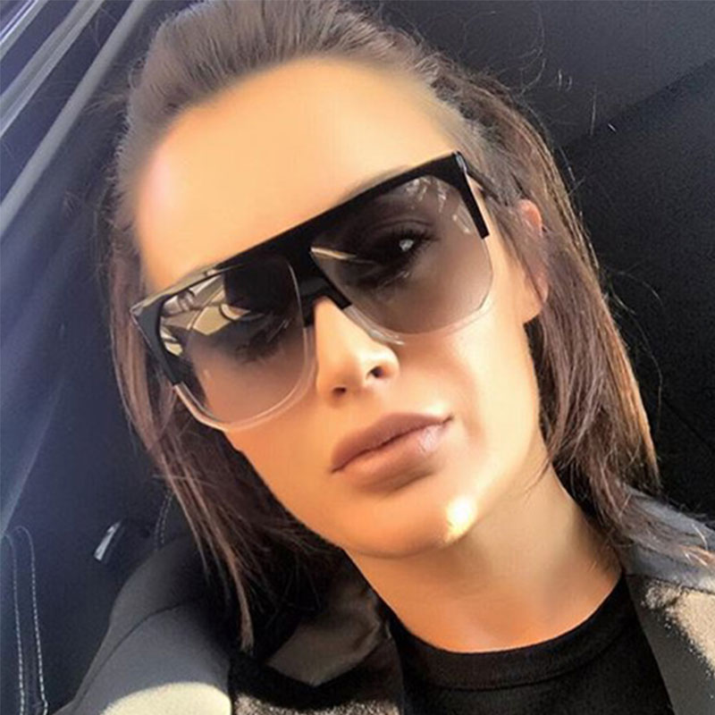 2017 Sun Glasses For Women Brand Designer Fashion Luxury Oversized Vintage Sunglasses Sqaure Sunglass Retro Female Flat eyewear