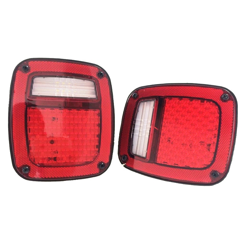 Free Shipping 2pcs X  Led Tail Lights For Jeep TJ Wrangler 1998 1999 2000 2001 2002 2003 2004 2005 2006 year