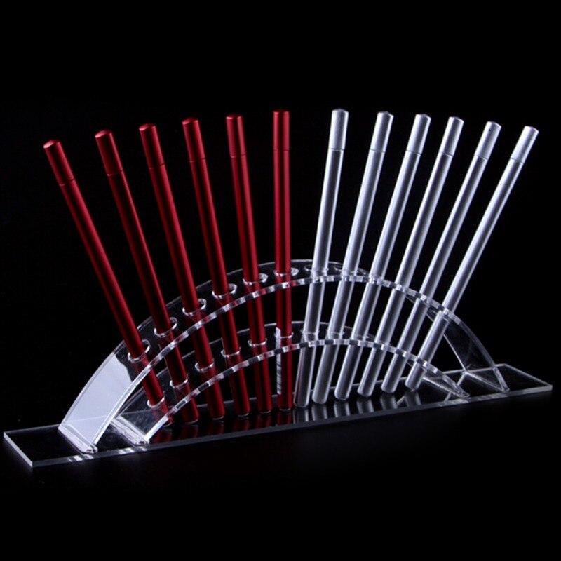 Eyebrow Pencil Display Stand 12 Holes Acrylic Paint Brush Brush Display Holder Transparent Ballpoint Pen Holder,makeup Tools