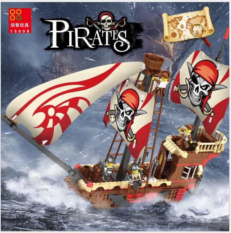 2018 New Arrive Captain Pirates of The Caribbean 494pcs Bricks Ship Model Building Blocks Compatible With Lego Toys For Children