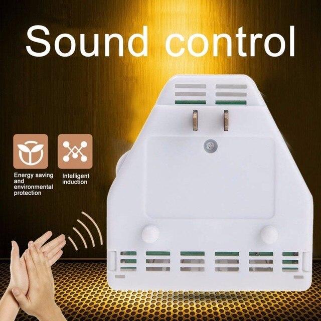 Aktywowane dźwiękiem na On/Off przełącznik ręcznie klaskać 110 V elektroniczny gadżet US wtyczka