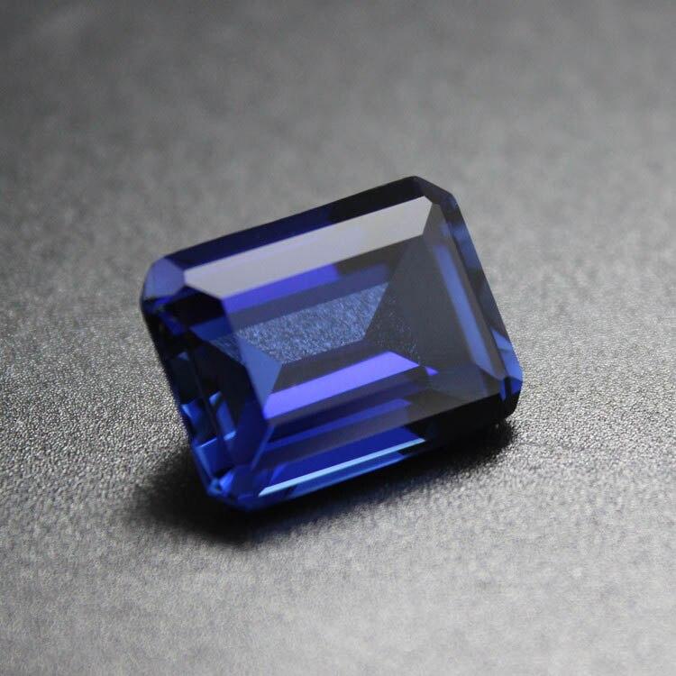 Royal princess blue sapphire gemstone emerald shape gem stone font b beads b font Rectangle gemstones