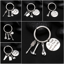 """1PCs """"If Dad Can't Fix It No One Can"""" Hand Tools Keychain Daddy Key Rings Gift for Dad Fathers Day, Father Key Chain Accessories"""