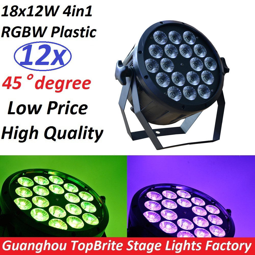 12xLot 2017 LED Flat Par 18x12W RGBW DMX Stage Lights Business Lights High Power Light with Professional for Party KTV Disco DJ 2pcs dj disco par led 54x3w stage light dmx strobe flat luces discoteca party lights laser rgbw luz de projector lumiere control