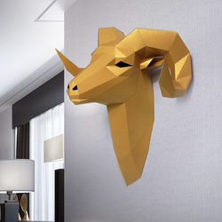 3D Cabra Animal de Brinquedo Modelo de Papel Home Decor Living Room Decor DIY Modelo do Ofício de Papel Do Presente Do Partido