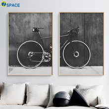 Bicycle Mountain Bike Landscape Wall Art Canvas Painting Nordic Posters And prints Wall Pictures For Living Room Bedroom Decor(China)