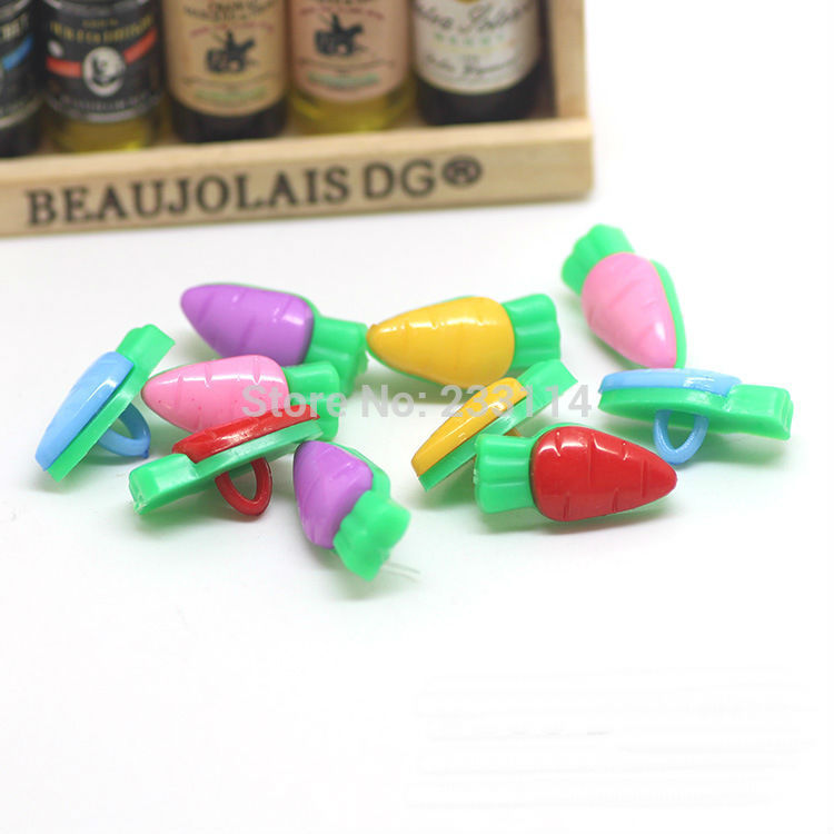 A59 Button clasp wholesale cartoon children color radish candy colored button sweater buckle Stud scrapbooking sewing botoes
