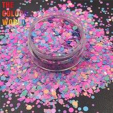 TCT-292 сахарные цвета конфеты круглой формы в горошек ногти блеск художественное оформление ногтей Блеск для тела макияж лицо живопись гель фестиваль DIY