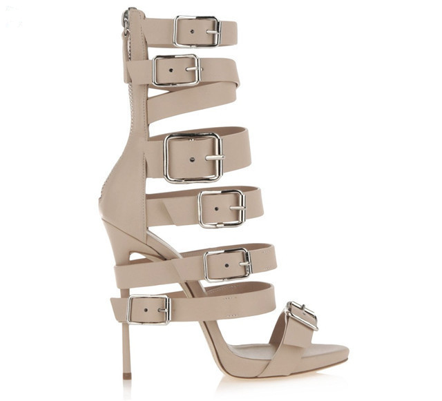 5d3538ca17e LTTL Fashion Sandals Women Nude Black Wrap Around High Heel Sandals Ankle  Boots Woman Design Buckle Strappy Gladiator Sandals-in High Heels from Shoes  on ...