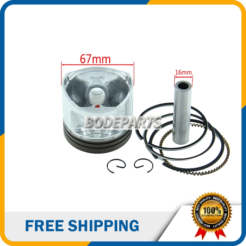 67mm Piston 16mm Pin Piston Kits Ring Set Chinese <font><b>250cc</b></font> Zongshen,Longcin,<font><b>Lifan</b></font> CG250 Dirt Motor Bike Atv Engine <font><b>Parts</b></font> HH-101 image