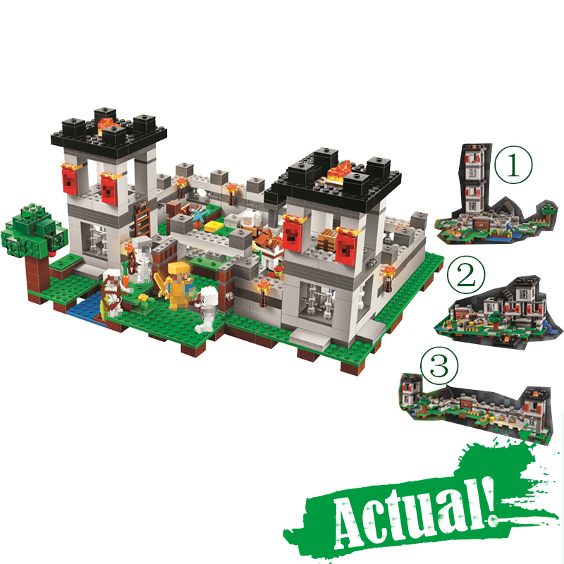 BELA 10472 The Fortress 4in1 Minecraft My World DIY Building Blocks Bricks Toys For Children Compatible with INGly 21127 qunlong toys compatible legos minecraft city model building blocks diy my world action figures bricks educational boy girl toy