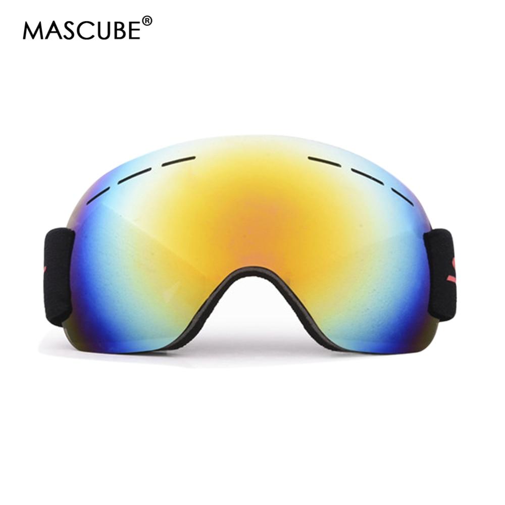 Mascube Model Ski Goggles Uv400 Anti-Fog Massive Ski Masks Glasses Snowboarding Males Girls Snow Snowboard Goggles