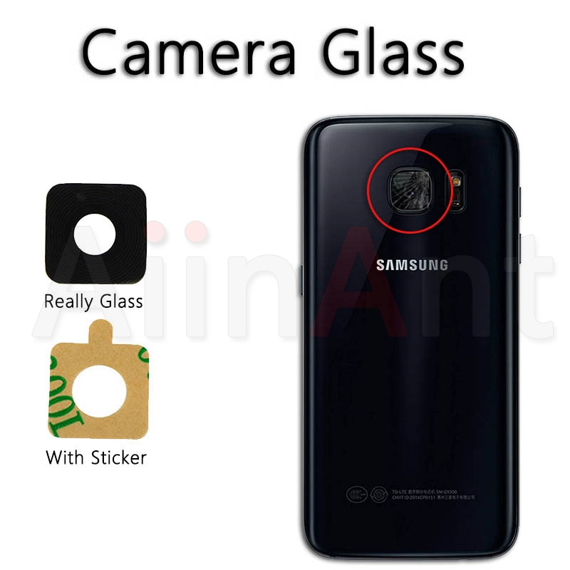 AiinAnt Original Back Camera Glass Ring Cover Lens For Samsung Galaxy S4 S5 S6 S7 Edge S8 Plus With Sticker Phone Repair Parts image