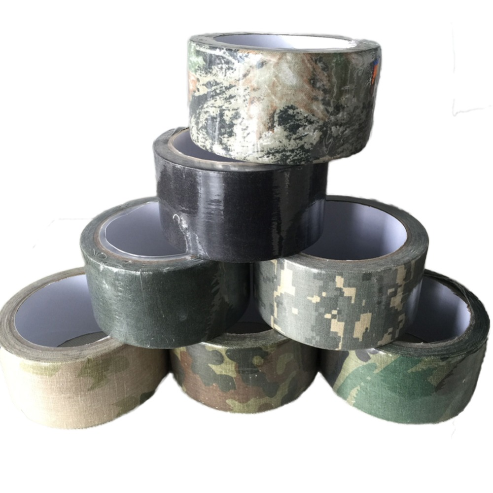 Useful Gun Gear Stretch Wraps Camouflage Self Adhesive Elastic Camo Bandage Hunting Shooting Tape 50mm*10m 7 color ...