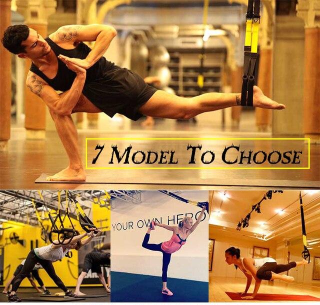 Fitness Home Trainer bandes Sport ceintures entraînement Fitness résistance sangles pour Gym entraînement poids corporel avec LOGO et boîte