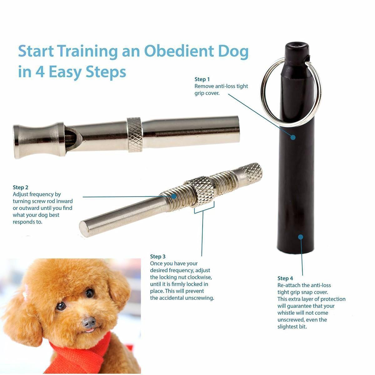 UltraSonic Pet Dog Training Whistle Sonido Ajustable Silencioso - Productos animales - foto 3