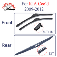 Combo Silicone Rubber Front And Rear Wiper Blades For KIA Ceed 2009 2012 Windscreen Wipers Car