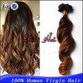 7A grau virgem brasileira Ombre grampo em extensões do cabelo humano virgem do cabelo humano 7 pçs/set 70 g / 80 g / 100 g grampo no cabelo frete grátis