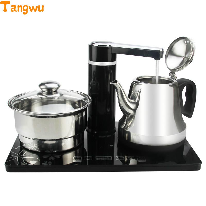 Free shipping Automatic water supply electric kettle tea set Safety Auto-Off FunctionFree shipping Automatic water supply electric kettle tea set Safety Auto-Off Function