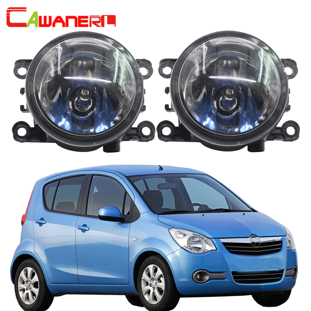 Cawanerl 2 X H11 100W Car Light Halogen Lamp Fog Light DRL Daytime Running Lamp 12V For Opel Agila (B) (H08) Hatchback 2008-2015 for opel astra h gtc 2005 15 h11 wiring harness sockets wire connector switch 2 fog lights drl front bumper 5d lens led lamp