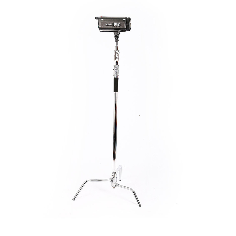 2.6m stainless steel lightstand magic legs Photography C-frame video light bracket foldable iron lightstand With 1m iron rail