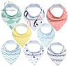 Baby Bandana Drool Bibs Unisex 8 Pack Gift Set For Drooling And Teething 100 Organic Cotton