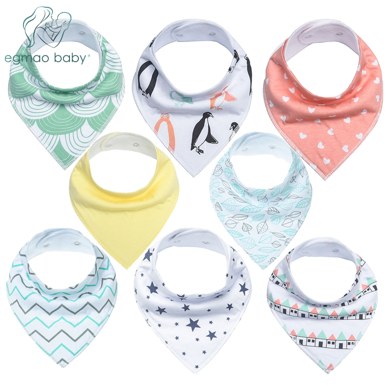 Baby Bandana Drool Bibs, Unisex 8-Pack Gift Set for Drooling and Teething, 100% Organic Cotton, Soft and Absorbent Saliva towel miracool neck bandana re usable 100 s of times keeps you cool red 2 pack