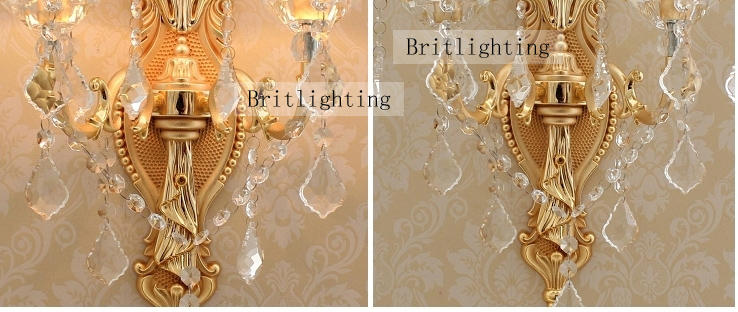 Wall crystal lamp for bathroom ampshade contemporary wall light wall crystal lamp for bathroom ampshade contemporary wall light luxurious sconce light beautiful wall lights indoor wall fixture in wall lamps from lights aloadofball Image collections
