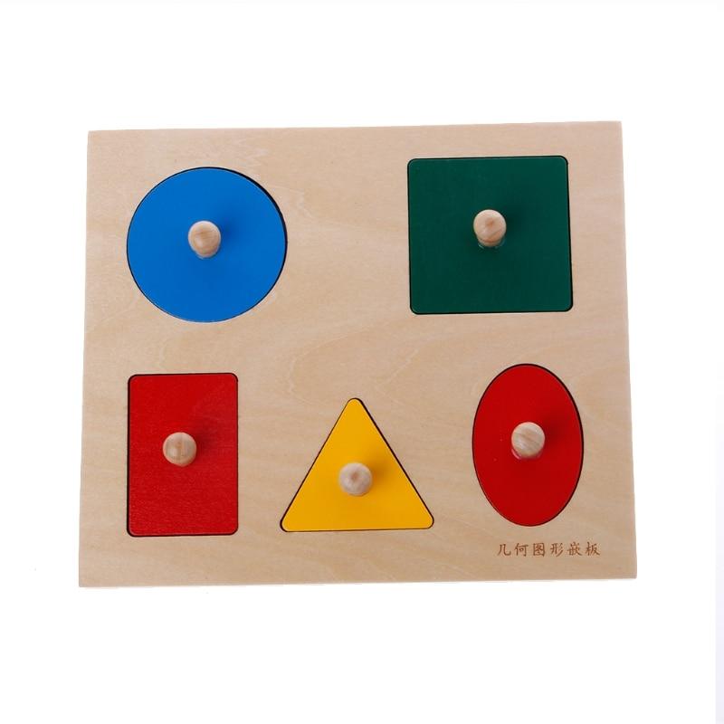 Montessori formes tri Puzzle géométrie conseil éducation préscolaire enfants Toys-M15