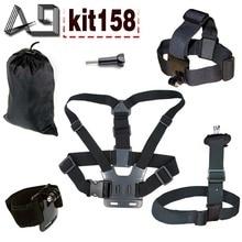 A9 For shoulder strap / body tripod / head strap / hand strap set for Gopro hero 5 4 3 SJCAM SJ4000 xiaomi yi 4k