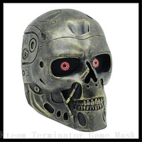 Drop Shipping New Ghost Skull Full Face Mask Cosplay Paintball Outdoor CS Fiberglass WarGame Airsoft Hunting Army Tactical Masks