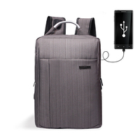 Business Men S Backpack USB Charging Anti Theft Laptop Backpack 18 Inch Male Large Capacity College