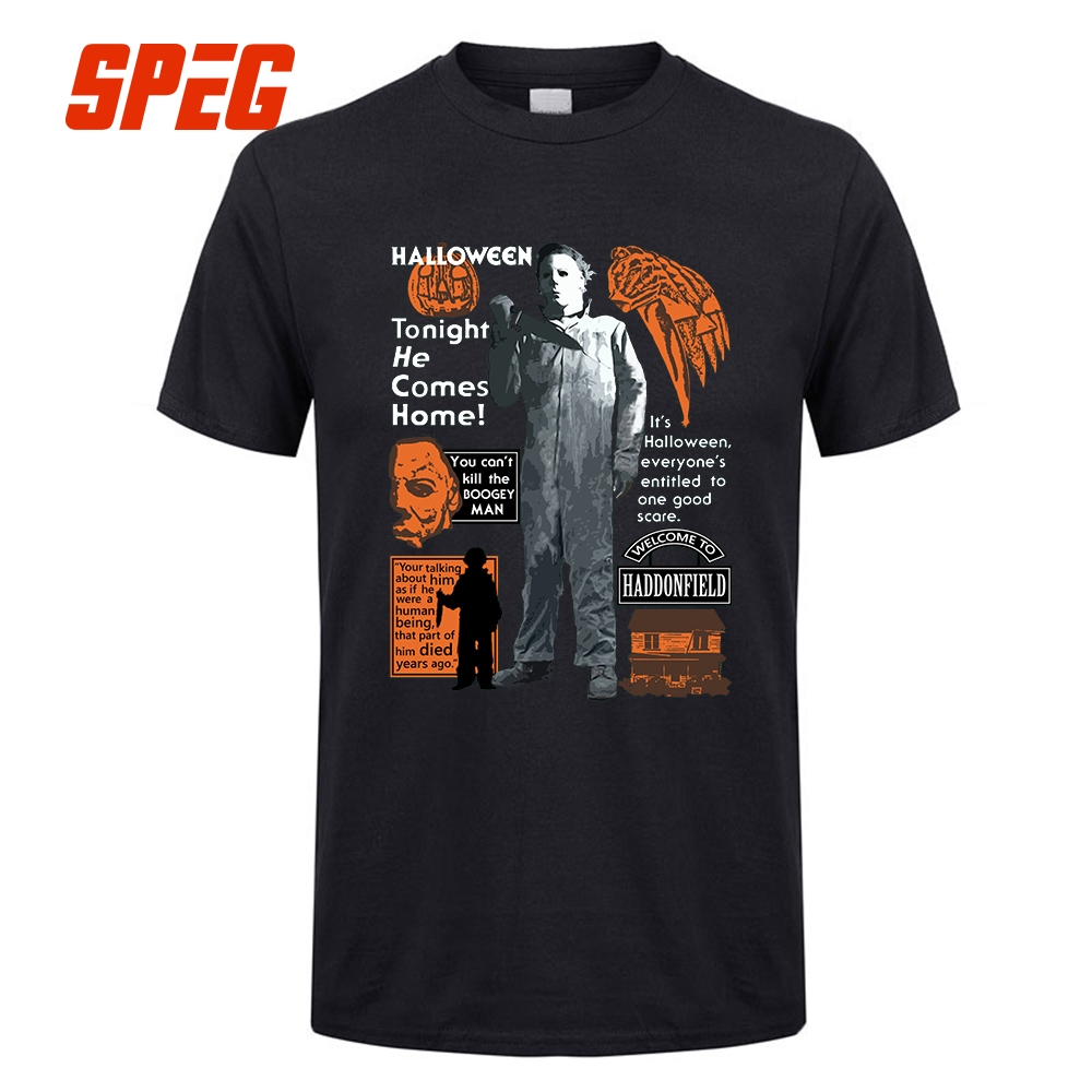 Image result for tonight he comes home michael myers t shirt
