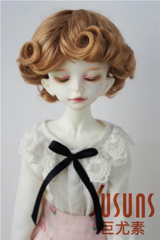 JD369 1/4 MSD парики для шарнирных кукол модный кудрявый парик 7-8 дюймов BJD синтетический, мохеровый, для куклы парики кукольные аксессуары - Цвет: Golden Blond SM27