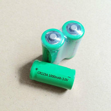 4 pcs. New CR123A 3V lithium rechargeable battery, 1000 mah. 16340